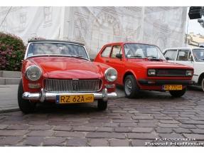 Dzień Serca w Rzeszowie i pojazdy zabytkowe MG, Fiat 125p, Warszawa M20 i inne