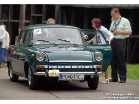Międzynarodowy rajd pojazdów zabytkowych - muzeum Bóbrka - skoda