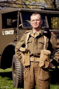 Leszek Kieś, jeden z miłośników militariów
