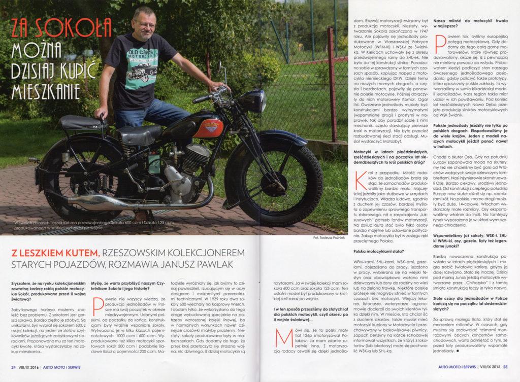 Auto Moto i Serwis nr.5 Wywiad z Leszkiem Kutem