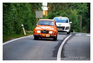 Załoga Saab-a nr. startowy 23 tuż przed Bardejowskimi Kupelami
