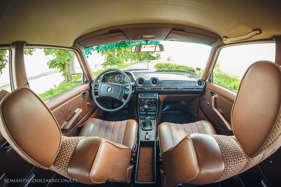 Mercedes 200 W123 - wnętrze