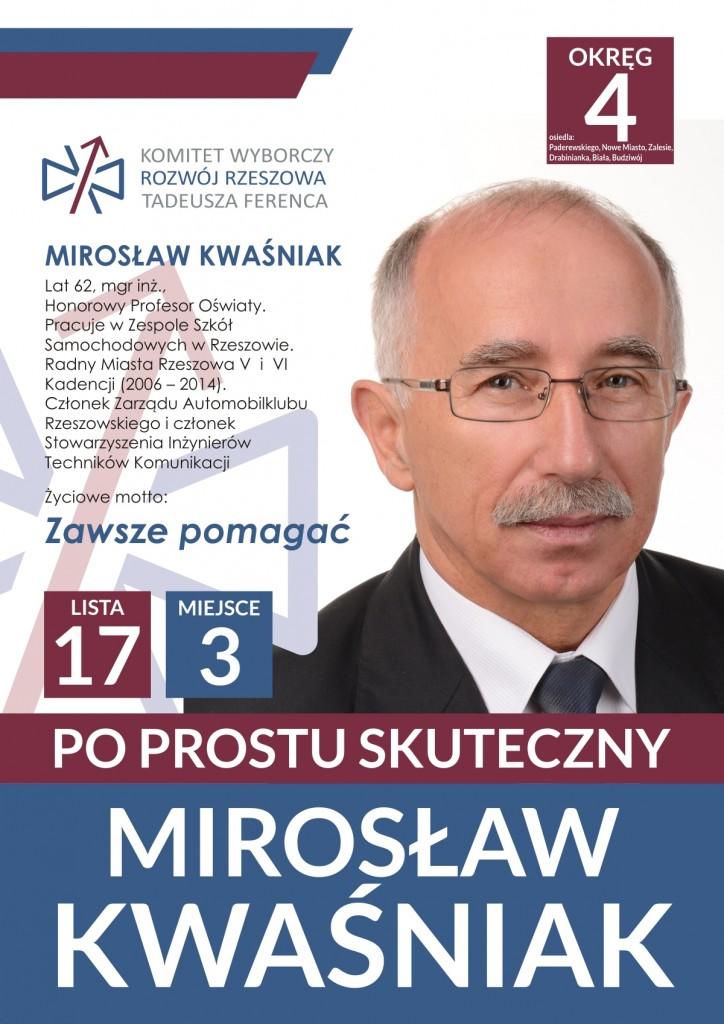 Miroslaw Kwasniak wybory 2014