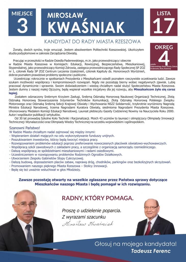 Miroslaw Kwasniak wybory 2014 cz 2
