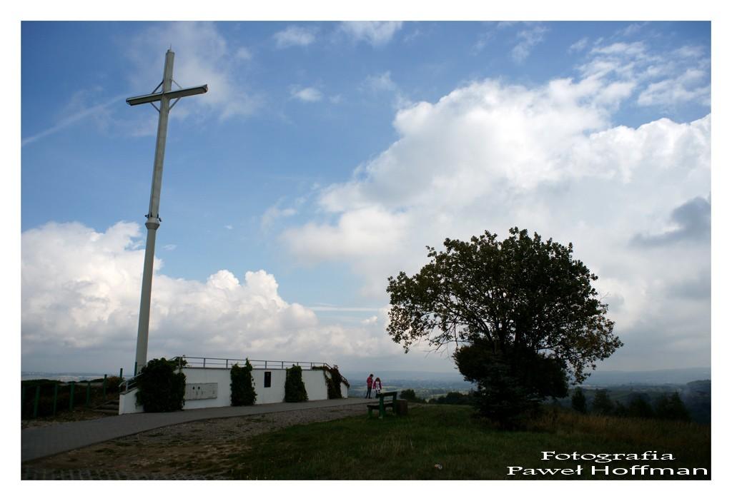Najwyższe wzgórze w gminie Boguchwała, tzw. Krzyż Milenijny w Niechobrzu
