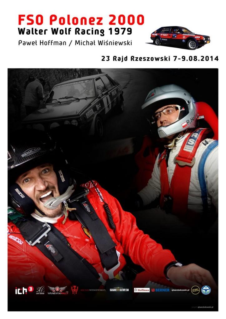 Plakat Hoffman Wisniewski 23 rajd rzeszowski