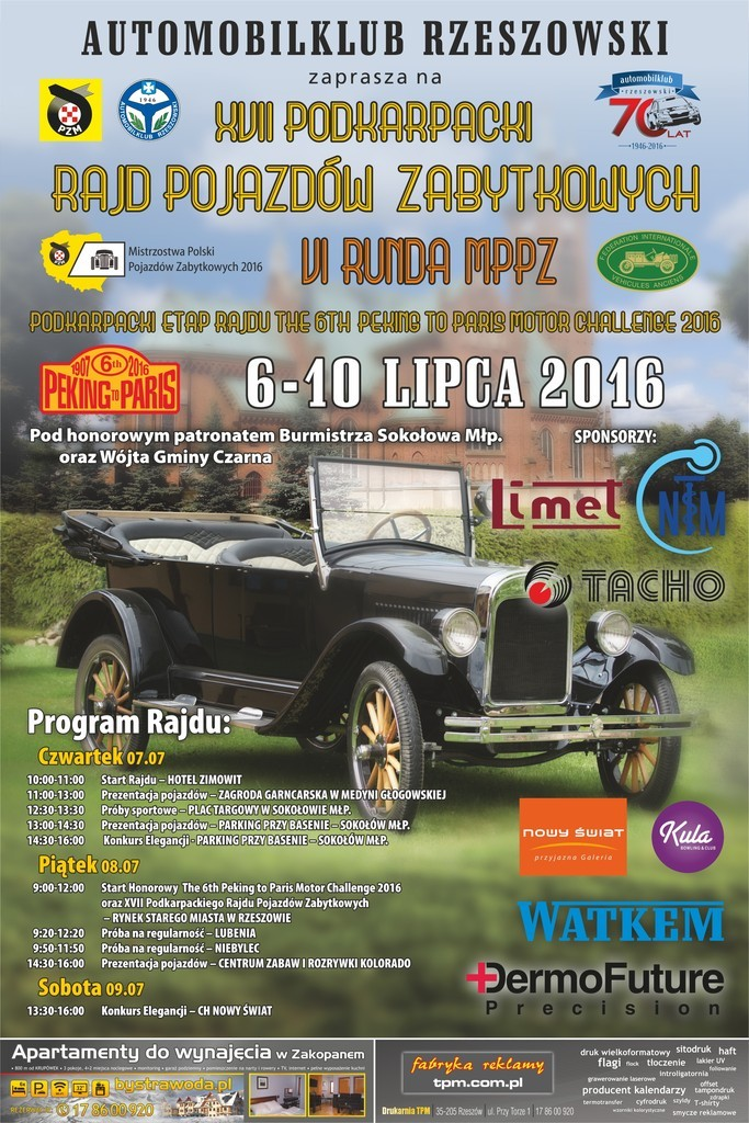 XVII Podkarpacki Rajd Pojazdow Zabytkowych - plakat